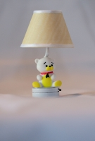 Teddy Bear Nursery Light with Coordinating Yellow Shade T25-Spec
