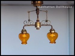 Delancey Street Cafe Dollhouse Battery light C37 YL
