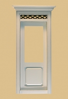 Westfield Exterior Dollhouse Door in White