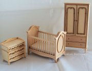 Unpainted 3 Piece Nursery Set