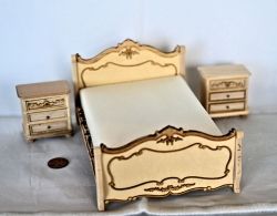 Miniature Unpainted Bedroom Set