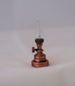 Hurricane Table Lamp in Copper with a Clear Shade T12