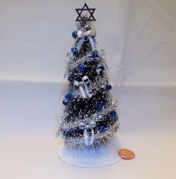 Dollhouse Miniature Chanukah Bush Tree