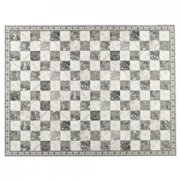 Silver Charcoal Faux Marble Flooring Sheet with Border
