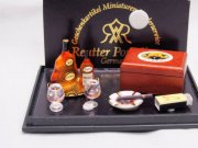 Dollhouse Miniature Cigar and Cognac Set