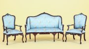 Josette Aubusson Parlor Set in Blue