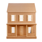 Built, Exterior and Interior, Colonial Dollhouse