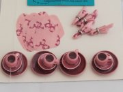 Rose color miniature dollhouse dish set-4 place settings