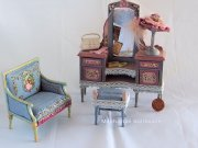 Hand Painted Vanity Set made in Spain by Aurearte
