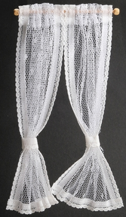 Dollhouse Lace Curtains, White