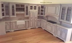 Miniature Cambridge Manor Kitchen Set, White Wash