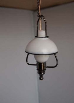 Hanging Lantern Lamp in Black Metal C4