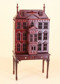 Pickering Dollhouse in Mahogany 144 scale