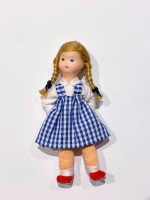 Little Girl Doll by Erna Meyer Dressed in Blue Plaid
