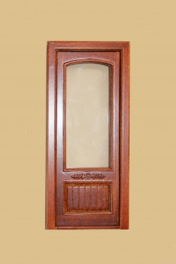 Provincial Single Door with Glass - New Walnut