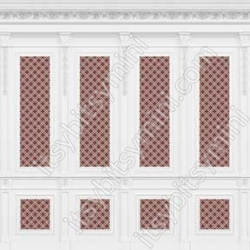 French Wall Panel Boiserie Red