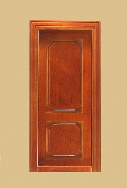 Westfiled Interior Dollhouse Door in Walnut