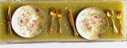 Dollhouse Dishes and Silverware- Two Settings
