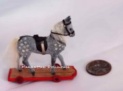 Dollhouse Miniature Pony on Wheels