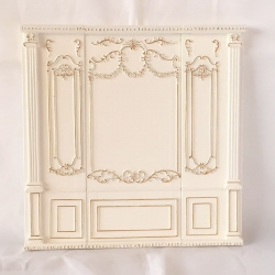 Fancy White Wall Unit-3 Piece