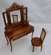 Bespaq Mirrored Dressing Table with Chair