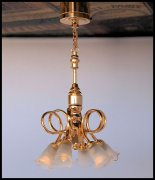 Brass Finish with 6 Bulbs Ceiling Light C34S
