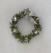 Holiday Wreath with Silver Design