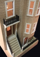 The Park Avenue Dollhouse Kit-Brownstone Townhouse