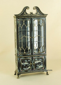 Fancy Mullioned Cabinet - Black