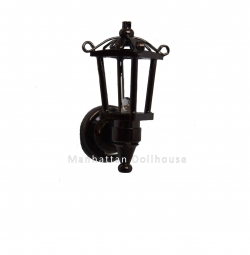 Black Coach Lamp with Natural White Light W2