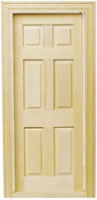6-Panel Traditional Interior Dollhouse Door