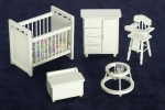 5 Piece Nursery Set in White