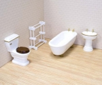 Victorian Dollhouse Bathroom Set