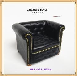 Comtemporary Chesterfield Arm Chair Black