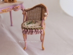 Miniature Ladies Vanity Table and Chair Set from Spain