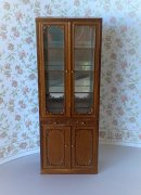 Bespaq Emporium Double Door Display Case - New Walnut