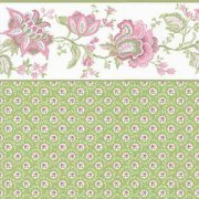 Green and Rose Pattern with Border