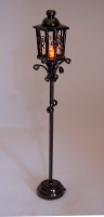 Black Outdoor lamp with amber light F3A
