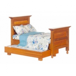 Trundle Bed with Bedding
