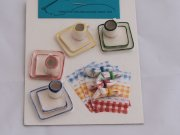 Square Dollhouse Dishes-4 Piece Setting