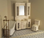 Miniature Italia Bathroom Set-White Wash Finish
