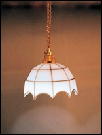 White Hanging Tiffany Style Lamp C3