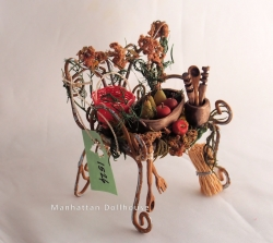 Exterior Miniature Chair with Fruit Basket
