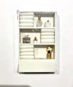 Bathroom Cabinet with Towels and Accessories-White
