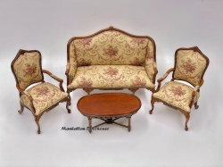 Bespaq 4pc. set 3pc. Aubusson Sofa set and coffee table