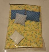 Yellow and Blue Dollhouse Comforter Set