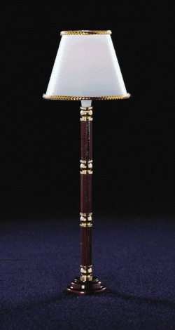 Stained Base Floor Lamp