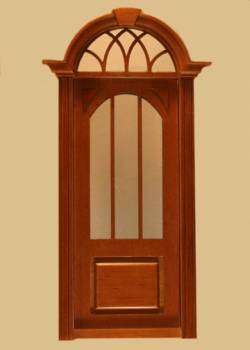 Cambridge Exterior Door in Walnut made by Majestic Mansions