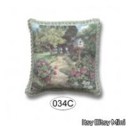 Miniature Pillow country Scene