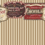French Chocolate Dollhouse Wallpaper 3